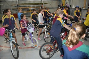 Cub Scouts Learning Cycling