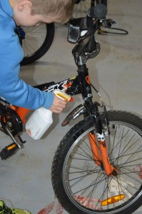 Cleaning a Bicycle
